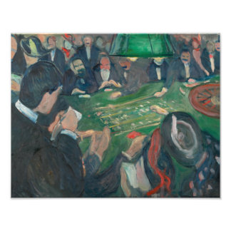 Edvard Munch - At the Roulette Table Photographic Print