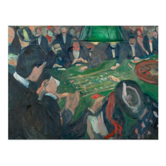 Edvard Munch - At the Roulette Table Postcard
