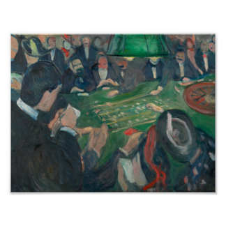 Edvard Munch - At the Roulette Table Poster