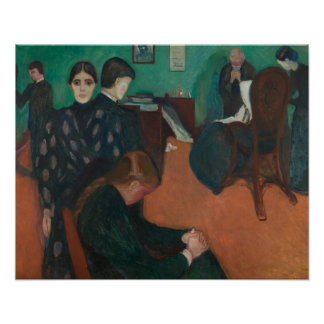 Edvard Munch - Death in the Sickroom Poster