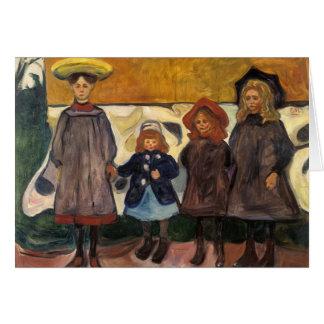 Edvard Munch - Four Girls in Asgardstrand Card