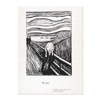 Edvard Munch Illustration The Scream Canvas Print
