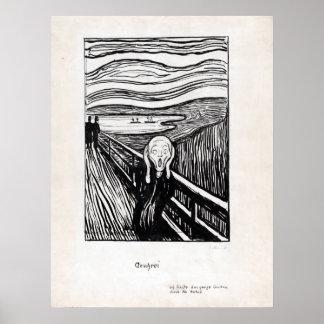 Edvard Munch Illustration The Scream Poster