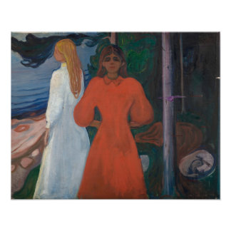 Edvard Munch - Red and White Poster