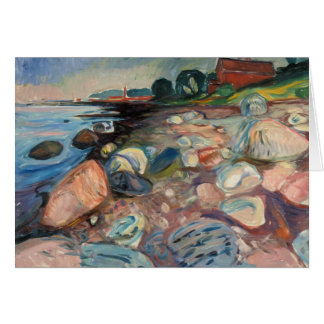 Edvard Munch - Shore with Red House Card