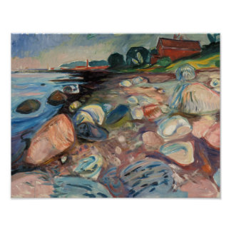 Edvard Munch - Shore with Red House Poster