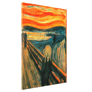 EDVARD MUNCH - The scream 1893 Canvas Print