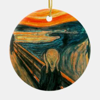 EDVARD MUNCH - The scream 1893 Ceramic Ornament