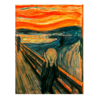 EDVARD MUNCH - The scream 1893 Postcard