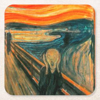 EDVARD MUNCH - The scream 1893 Square Paper Coaster