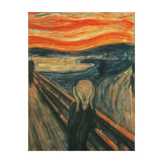 Edvard Munch The Scream Painting Canvas Print