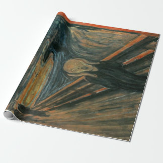 Edvard Munch The Scream Painting Wrapping Paper