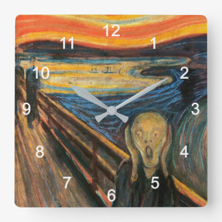 "Edvard Munch, ""The Scream"" Square Wall Clock"
