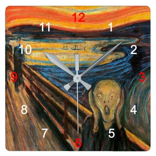 "Edvard Munch, ""The Scream"" Wall Clock"