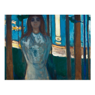 Edvard Munch - The Voice , Summer Night Postcard