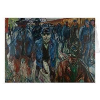 Edvard Munch - Workers on their Way Home Card