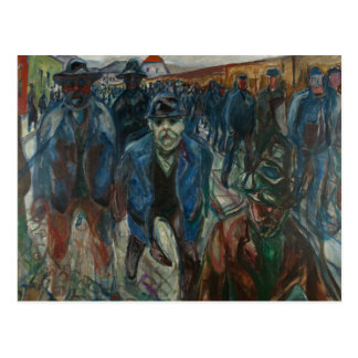 Edvard Munch - Workers on their Way Home Postcard