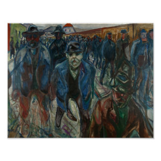 Edvard Munch - Workers on their Way Home Poster
