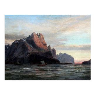 Edvard Skari View from Vaagekallen Lofoten Norway Postcard