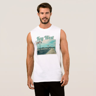Edward B Knight Pier at Higgs Beach in Key West FL Sleeveless Shirt