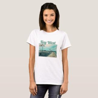 Edward B Knight Pier at Higgs Beach in Key West FL T-Shirt