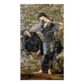 Edward Burne-Jones Beguiling of Merlin Poster