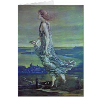 Edward Burne-Jones: Hesperus. The Evening Star Card