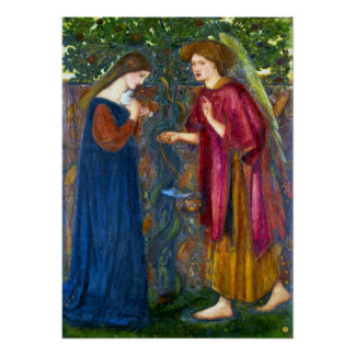 Edward Burne-Jones The Annunciation Poster