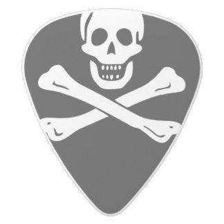 Edward England Pirate Flag Guitar Pick White Delrin Guitar Pick