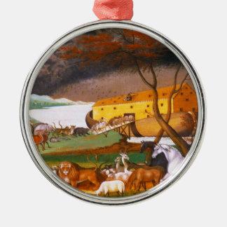 Edward Hicks Noah's Ark Silver-Colored Round Ornament