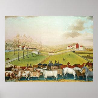 Edward Hicks - The Cornell Farm Poster