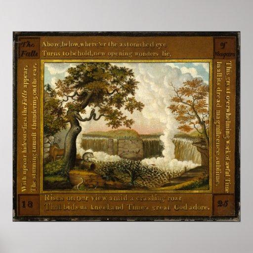 Edward Hicks The Falls of Niagara Poster