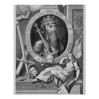 Edward III (1312-77) King of England from 1327, af Poster