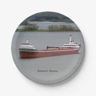 Edward L. Ryerson paper plate