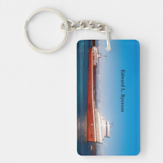 Edward L. Ryerson rectangle acrylic key chain
