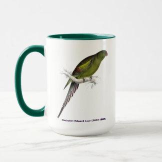 Edward Lear Bird Blossom Feathered Pararakeet Mug