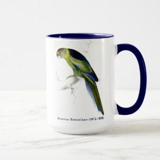 Edward Lear Bird Collection Barnards Parakeet Mug