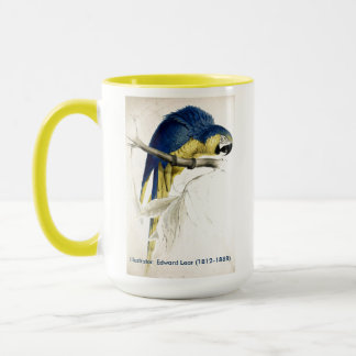 Edward Lear Bird Collection Blue And Yellow Macaw Mug
