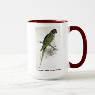 Edward Lear Bird Collection Hooded Parakeet Mug