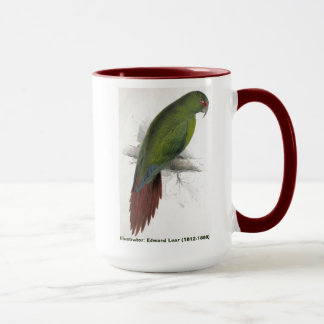 Edward Lear Bird Collection Long Billed Parakeet Mug