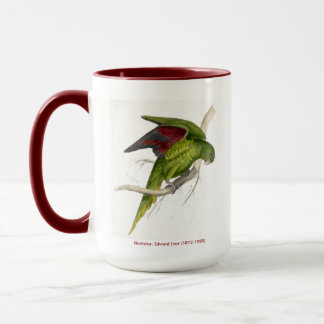 Edward Lear Bird Collection Matons Parakeet Mug