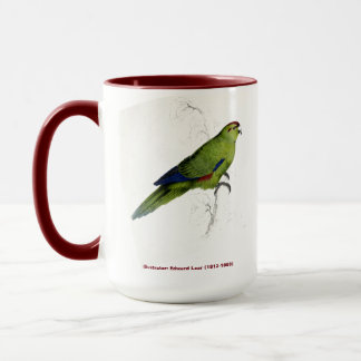 Edward Lear Bird Collection Pacific Parakeet Mug