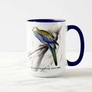 Edward Lear Bird Collection Pale Headed Parakeet Mug