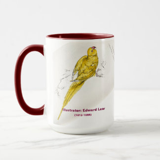 Edward Lear Bird Collection Rose-Ringed Parakeet Mug