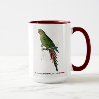 Edward Lear Bird Collection Roseate Parakeet Mug