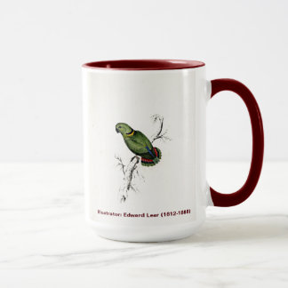 Edward Lear Bird Collection Swinderns Parakeet Mug