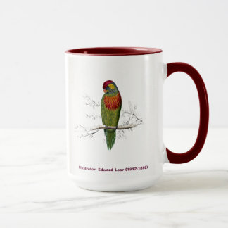 Edward Lear Bird Collection Variegated Parakeet Mug