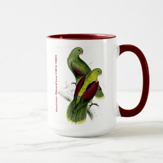 Edward Lear Bird Crimson Winged Parakeet Mug