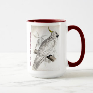 Edward Lear Bird Greater Sulphur Crested Cockatoo Mug