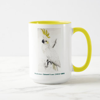 Edward Lear Bird Lesser Sulphur Crested Cockatoo Mug